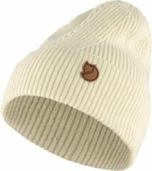 Fjällräven - Directional Rib Beanie - Muts maat One Size, wit/beige