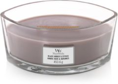 Bruine Woodwick Candle WoodWick Heartwick Flame Ellipse Black Amber & Citrus
