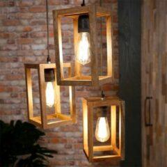 Bruine Easy Furn Hanglamp Hershey - 3 Stuks