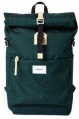 Sandqvist Ilon Dark groen Rugzak SQA1563 duurzaam groen laptop 13 inch