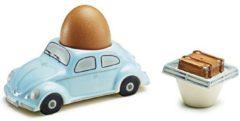 Lichtblauwe Volkswagen Beetle - Eierdop en zoutvaatje