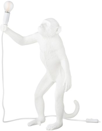 Afbeelding van Witte Seletti Monkey Vloerlamp Resin Staand - 46 x 54 cm