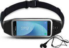 Zwarte Heupband Running Belt iCall – Hardloopband Sportband Riem met Smartphone Houder – Universeel voor alle telefoons onder andere Apple iPhone 8 / 7 / 6 / 5 en Samsung Galaxy J5 (2017) / J3 / J7