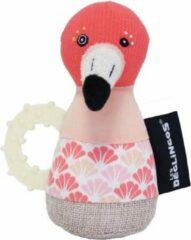 Les Deglingos Rammelaar Flamingo Roze 18 Cm
