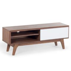 Bruine Beliani Buffalo Tv-meubel Mdf 35 X 117 Cm