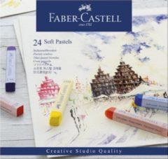 Faber-Castell Faber Castell FC-128324 Pastelkrijt Creative Studio Softpastel 24 Delig Etui