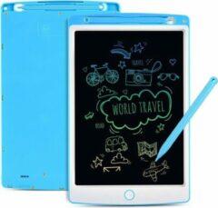 """Sixxon Tekentablet voor kinderen - Blauw - 10"""" LCD tekenbord voor kinderen - Multikleur scherm - Educatief speelgoed - Kindertablet"""