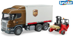 Bruder® speelgoedauto vrachtwagen 03581, Scania R-serie UPS logistiek met heftruck