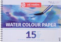 Witte Water Colour paper A3-formaat 240g/m² FSC-mix 15 vellen in een dubbelspiraal gebonden blok - aquarel aquarelverf waterverf papier