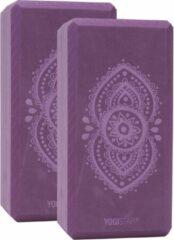 Yogablock yogiblock® basic - kunstcollectie - ajna chakra - aubergine - 2er-Set Yogablok YOGISTAR