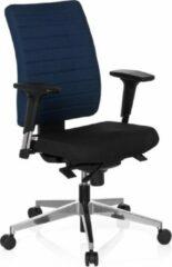 BS24 Hjh office Pro Tec 350 - Bureaustoel - Zwart / blauw