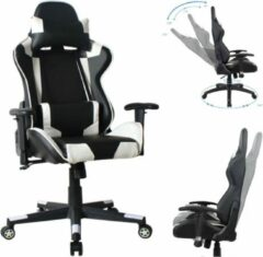 VDD Gaming Bureaustoel racing game chair style uitvoering high design Thomas wit zwart