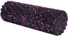XQ MAX - foam roller structuur - 33cm - zwart/roze