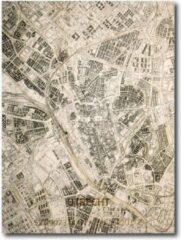Brandthout Stadskaart Utrecht 70x50cm | Plattegrond | Uniek | muurkaart | kaart | city map | kaart Utrecht in hout gegraveerd
