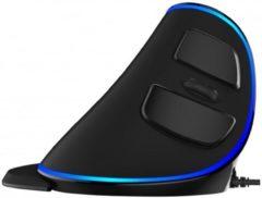 Blauwe Delux M618 Plus Bekabelde Ergonomische Muis