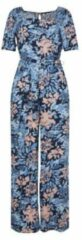 WE Fashion jumpsuit met all over print blauw