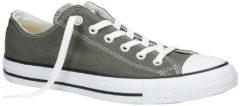 Converse Unisex Chuck Taylor All Star OX Canvas Trainers - Charcoal - UK 11 - Grey
