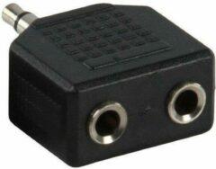 Benza Hoofdtelefoon Splitter voor Ipod en Iphone van 1x 3,5 mm naar 2x 3,5 mm Jack (Zwart)