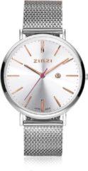ZINZI horloge ZIW412M - Zilverkleurig - rosé 38mm + Gratis Zinzi Armbandje