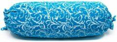 Spiru Yoga Mini Nek Bolster Blauw Rond Katoen – 34 x 10 x 10 cm