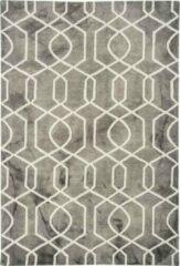 Eazy Living Easy Living - Fresco-Rug-Grey Vloerkleed - 200x300 cm - Rechthoekig - Laagpolig Tapijt - Retro - Beige, Grijs