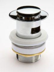 """Schütte SCHÜTTE Design Afvoerplug Pop-Up - 5/4"""" - afsluitbaar met overloop - Chroom"""