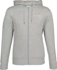 Calvin Klein Cotton Modal Lounge Full zip sweatshirt - grijs melange vest - Maat XL