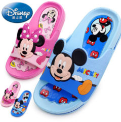 Bambino 2018 Disney children's shoes baby slippers summer cartoon Mickey indoor anti-skid boys and girls baby cool Minnie slippers