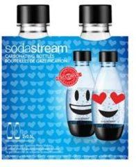 Zwarte Sodastream herbruikbare flessen - 2 x 0,5 liter - EMOJI