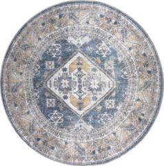 Blauwe Home67 Vloerkleed Laria - Rond ø120 cm - Blue 4 - Vintage - Trend