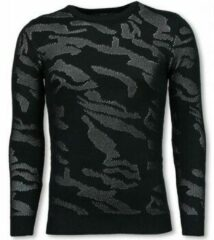 Justing 3D Camouflage Patroon Trui - Neon Pullover - Wit Truien Heren Trui Maat L