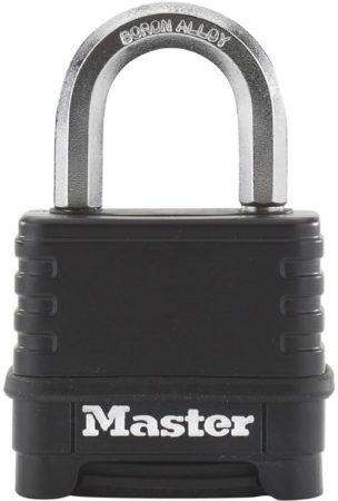 Afbeelding van Zwarte Master Lock Combinatie hangslot Excell zink 57 mm zwart M178EURD
