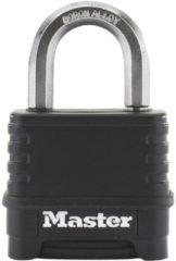 Zwarte Master Lock Combinatie hangslot Excell zink 57 mm zwart M178EURD