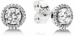 Pandora 296272CZ Oorbellen Classic Elegance zilverkleurig