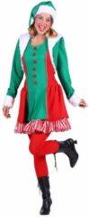 Rode Feestkledingkopen Kerstelf kostuum voor dames - Santa's helper maat S