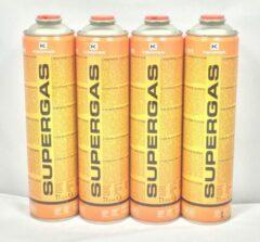 """Oranje 4 X Kemper 600ml Supergas gaspatroon 7/16"""""""