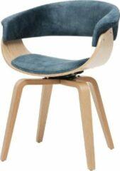 Maison Woonstore Maison´s stoel – Stoel – Stoelen – Eetkamerstoel – Eetkamerstoelen – Kuipstoel – Kuipstoelen – Eetkamerstoel met armleuning – Draaiende stoel – Blauw – Esdoorn poten
