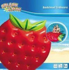 Rode Splash & Fun Matras Aardbei opblaasbaar