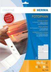 HERMA Fotophan transparent photo pockets 10x15 cm portrait white 10 pcs. (7585)