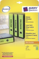 Avery Zweckform UltraGrip Ordnerrugetiketten A4 61 mm Groen 20 vellen á 3 etiketten