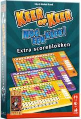 999 Games Keer op Keer Scoreblok 3 stuks Level 2, 3 en 4 Dobbelspel