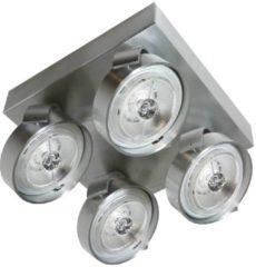 Merkloos / Sans marque Artdelight - Plafondlamp Dutchess 4L Square - Aluminium - 4x LED 15W 2200K-3000K - IP20 - Dim To Warm > spots aluminium   spotjes aluminium   spotjes plafondlamp aluminium   spots verlichting aluminium led   opbouwspot aluminium led