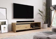 Antraciet-grijze Perfecthomeshop TV Meubel Artisan Eiken & Antraciet - 140x40x35 cm