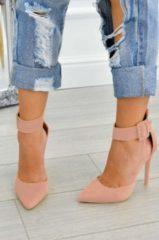 Alx Trend Decolletè scamosciate con cavigliera e tacco alto Yuma Rosa