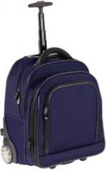 Blauwe Trolley / rugzak Nylon Dermata 3444NYbl