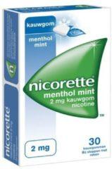 Nicorette Nicotine kauwgom menthol mint 2mg ( 30 kauwgums)