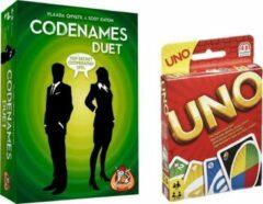 White goblin Spelvoordeelset Codenames - Duet & Uno - Kaartspel