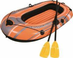 Oranje Bestway Opblaasbotenset Kondor 1000 Set 155x93 cm 61078
