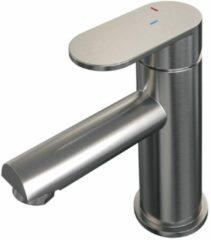 Brauer Brushed Edition wastafelmengkraan laag model energy-saving handgreep 3 Nikkel Geborsteld PVD