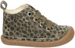 Shoesme BabyFlex bruin schoentje met luipaardprint (BF9W001-B)....